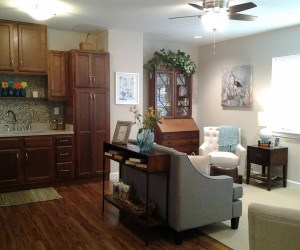 Assisted Living Kitchen & Living Room
