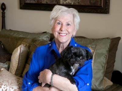 Cahaba Ridge Lady with Pet