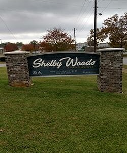 Shelby Woods Apartments Sign